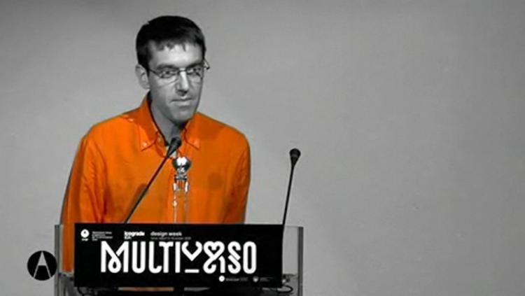 Pierre Di Sciullo video della conferenza Multiverso dal sito di AIAP