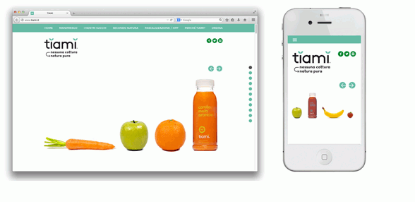 Tiami juice fruit | web design