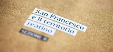 Exhibition identity of Francesco il santo