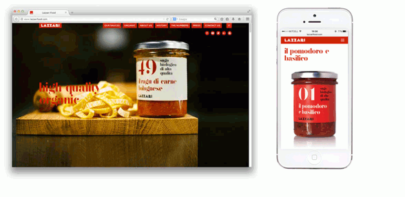Lazzari Food | web design
